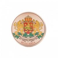 Метална значка с герба на България
