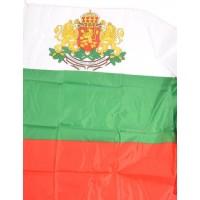 Българско знаме с герб 60 х 90 см.