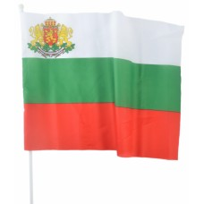 Българско знаме с герб 30 х 45 см.