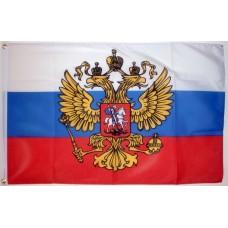 Знаме на Русия с герб 40 х 60 см.