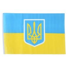 Знаме на Украйна с герб 90 х 145 см.