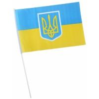 Знаме на Украйна с герб 30 х 45 см.