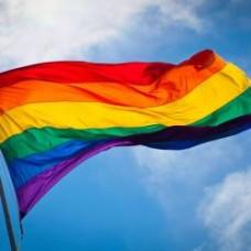 Знаме с цветовете на дъгата 90 х 150 см.