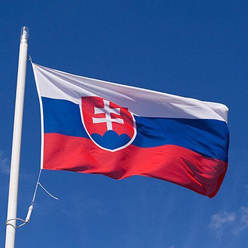 Знаме на Словакия - размер на словашкият флаг 90 х 150 см